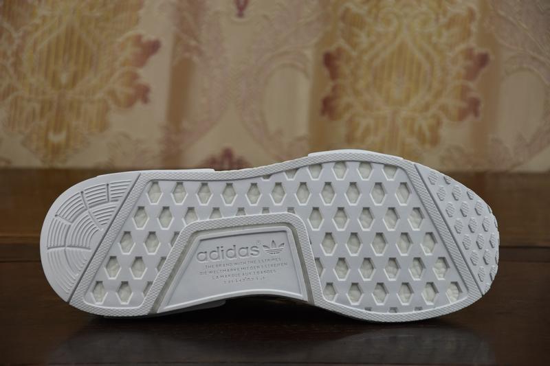 2017 adidas originali ua nmd runner r1 (tripla crema bianca uomini