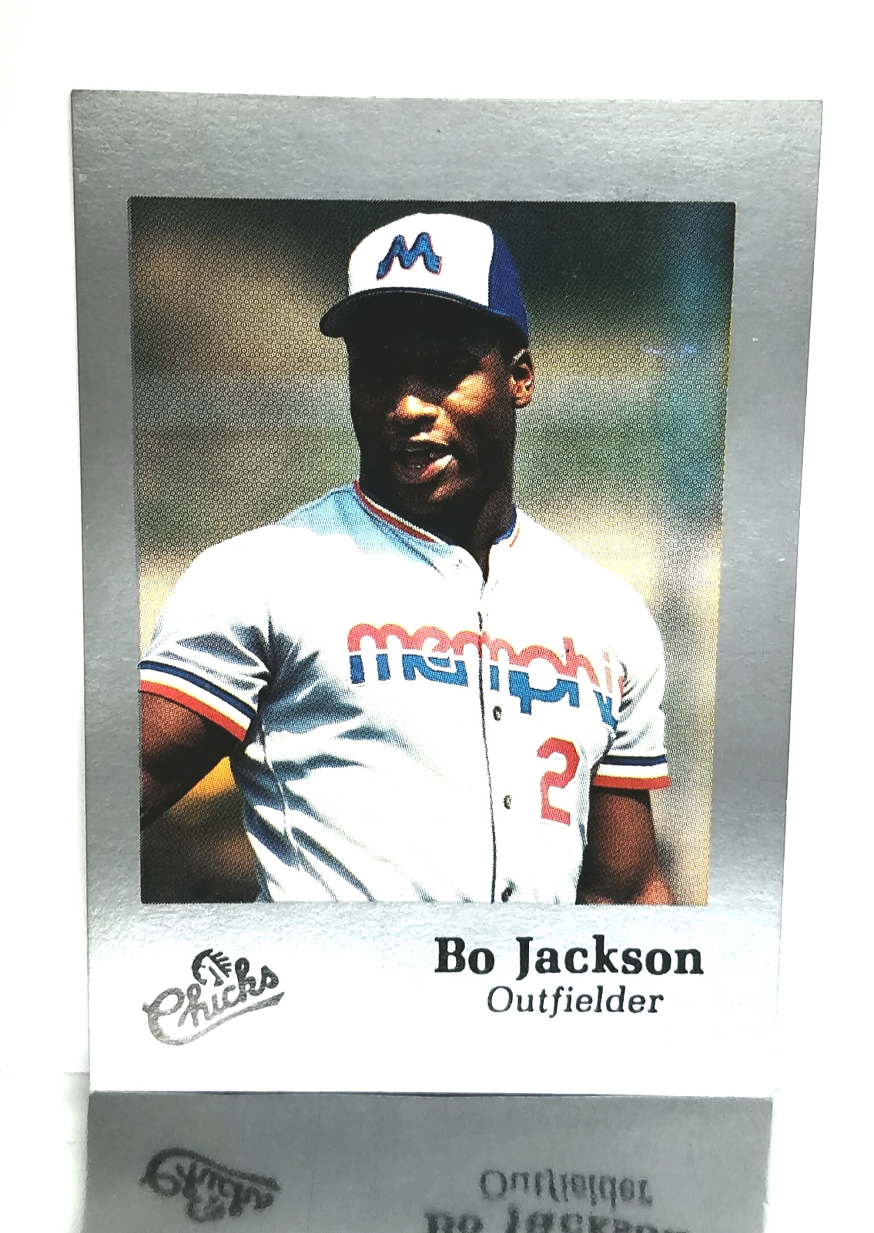 1986 Time Out Sports Silver Edition Bo Jackson Rookie Card 28 Memphis Chicks Kansas City Royals Rare From Cardboard Coins