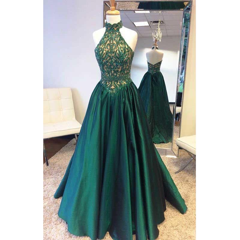 908056974b2 Halter prom dress