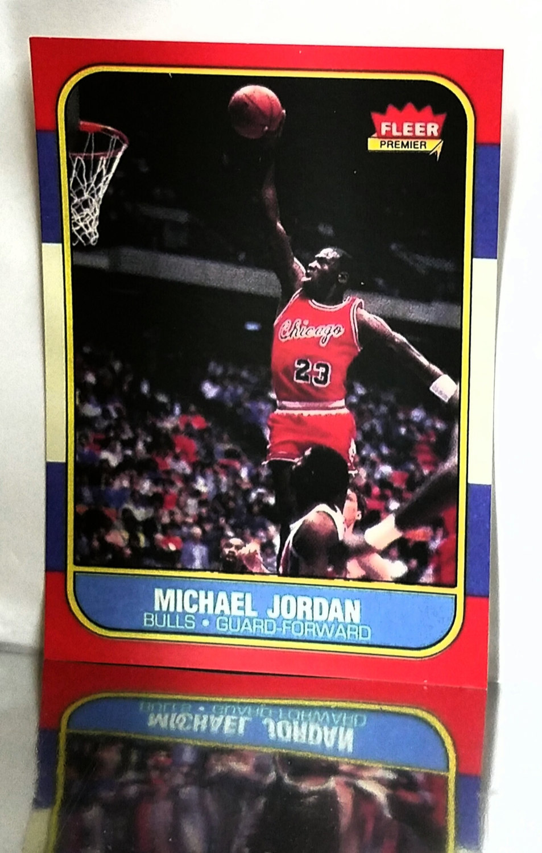 1986 87 Fleer Michael Jordan Rookie 57 Chicago Bulls Read From Cardboard Coins