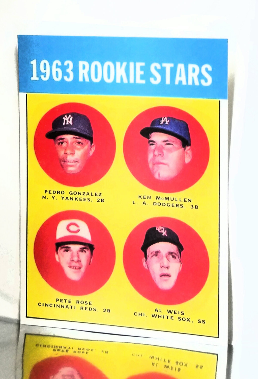 1963 Topps 537 Pete Rose Rookie Card Reds Hit King Read From Cardboard Coins
