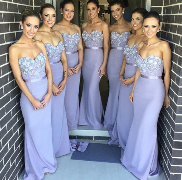Chiffon Bridesmaid Dresslavender Bridesmaid Gownbridesmaid Gowns