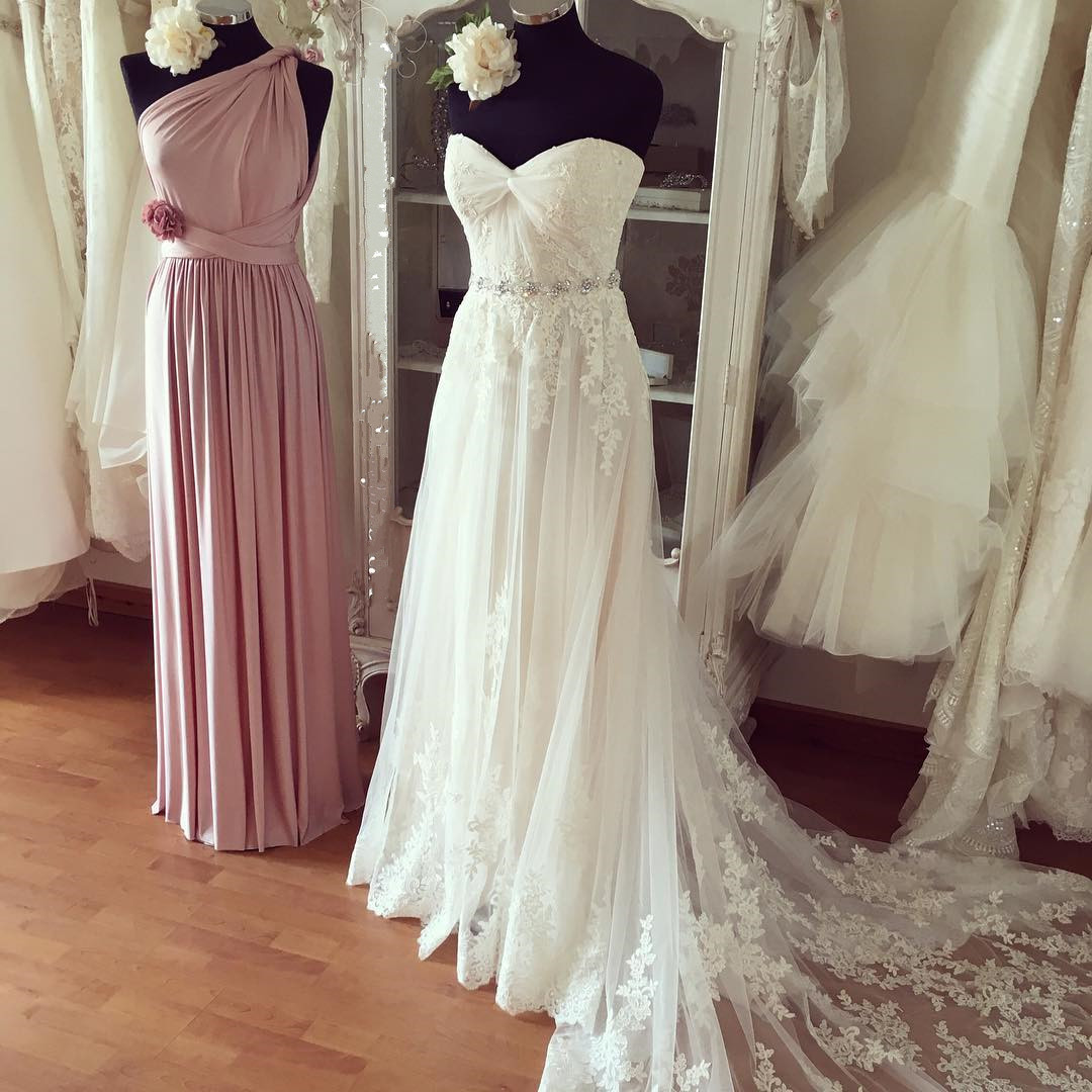 2a110010941 Strapless Sweet Heart Wedding Dresses with Train · Promtailor ...