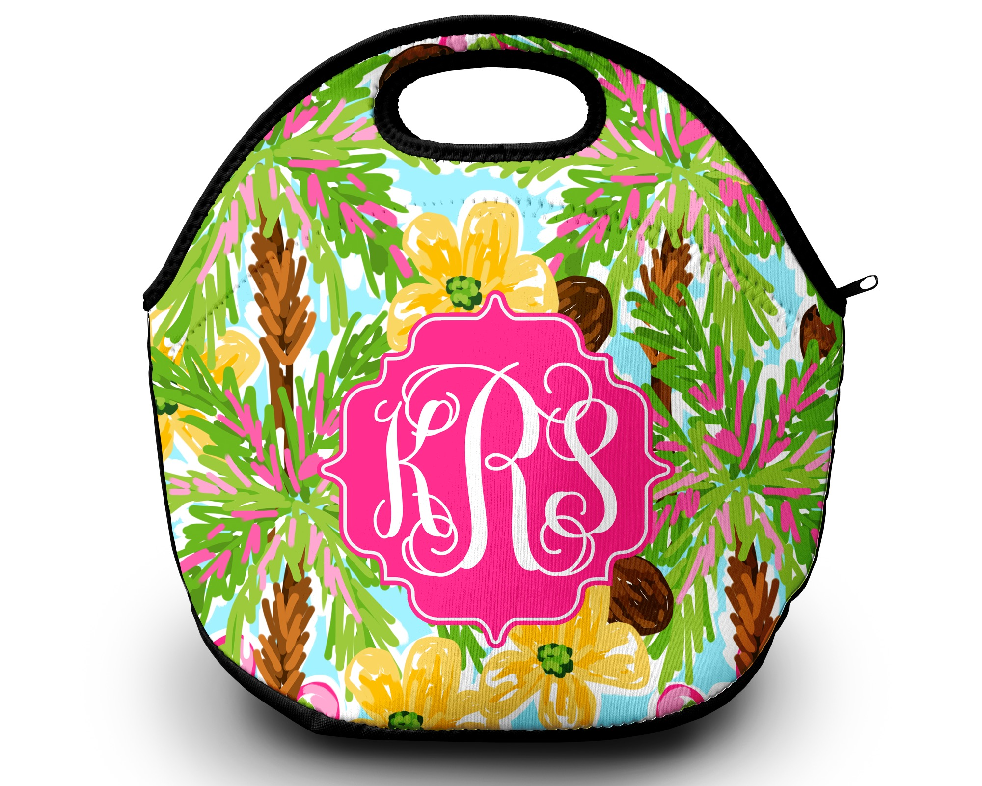 Monogrammed Lilly Pulitzer Inspired Lunch Tote 183 Sassy