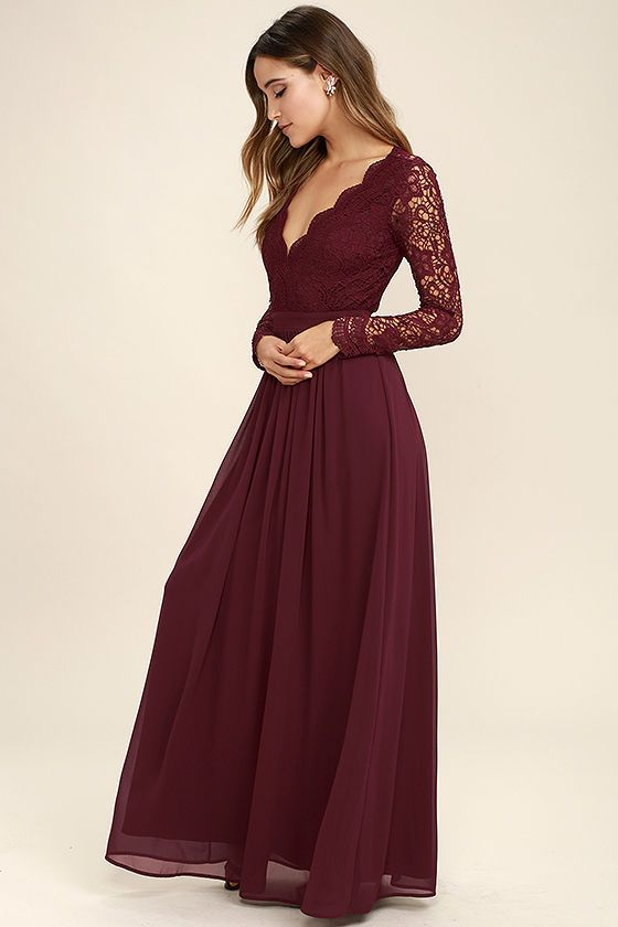 Backless Lace Prom Dresslong Sleeve Prom Dresscustom Made Evening