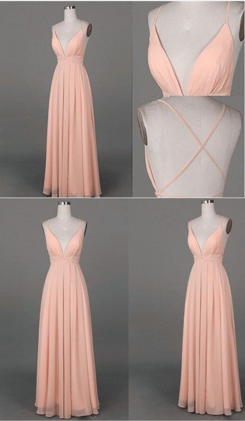 Simple Long Prom Dress Simple A Line V Neck Long Prom