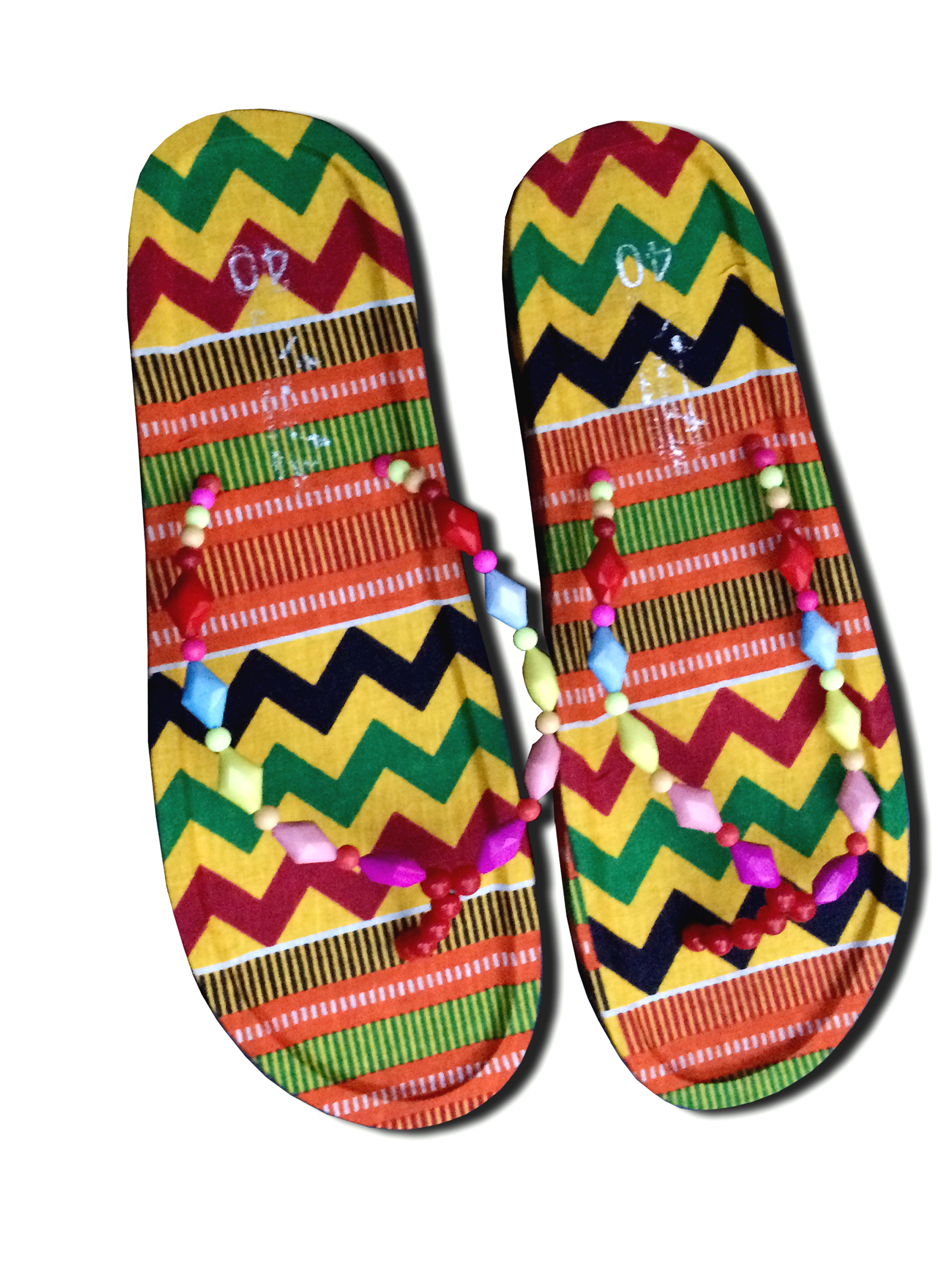 8c4f33dca2b40 Kente Flip Flops Traditional Thong slippers Women's Shoes Handmade Sandals  from Ramsjay Designs