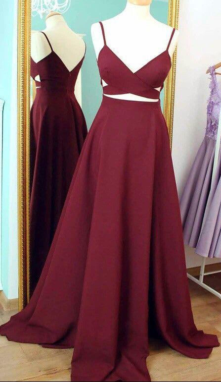 Burgundy Prom Dresses Celebrity Dresses Banquet Dresses Spaghetti