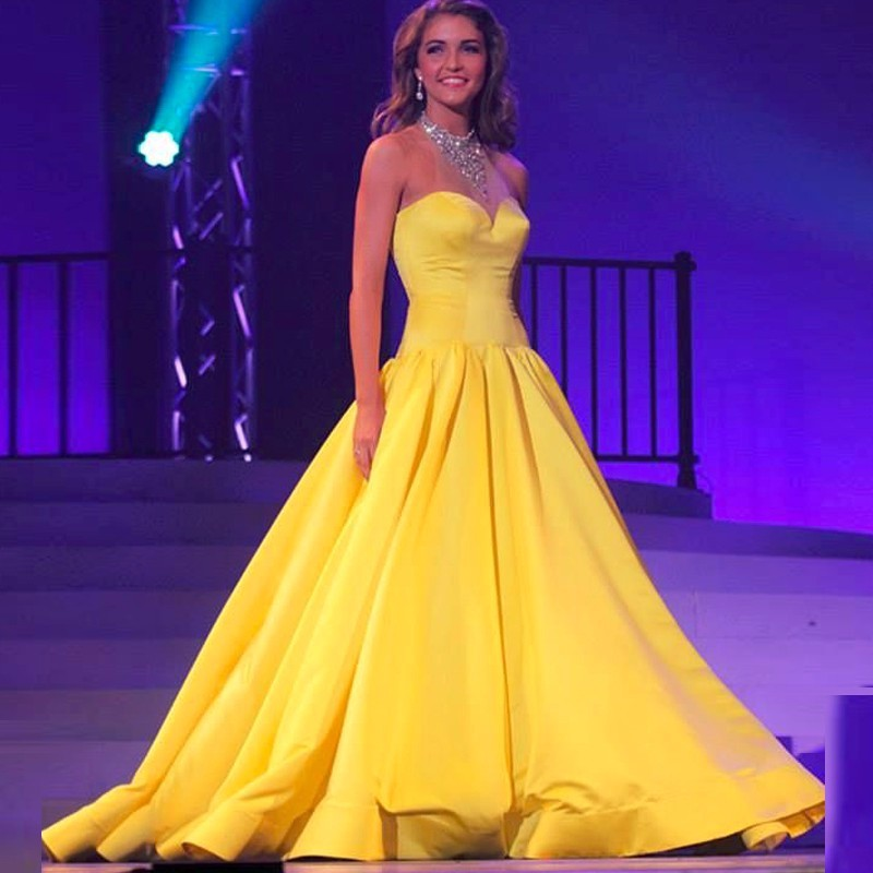Cheap Sweetheart Yellow Long Prom Dresses 2017 · ydresses · Online ...