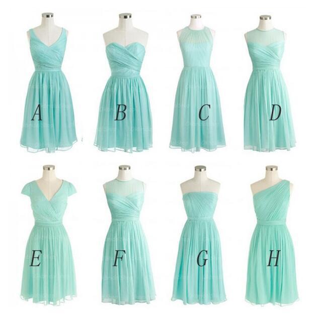 Tiffany Blue Bridesmaid Dresses Cheap Bridesmaid Dress Short