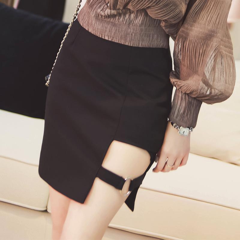 3d1e4f5d4f0 ... Harajuku Black Asymmetric A-Line Skirt Korean Fashion DC144 - Thumbnail  ...