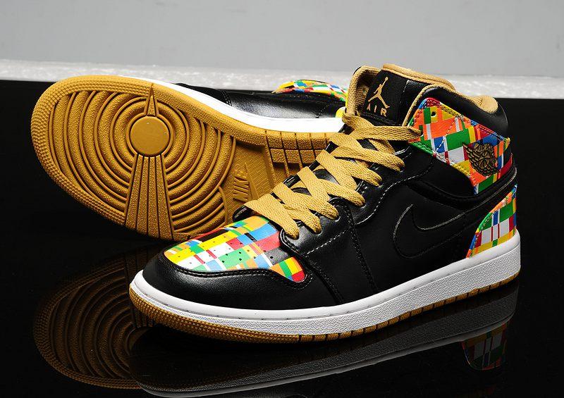 63c180c3db2f Nike Air Jordan 1 Womens Black Yellow · Sneakeronline · Online Store ...