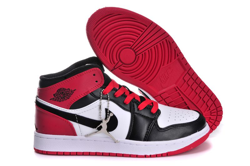 Red Black From 1 Jordan Womens Air Nike Sneakeronline Microfiber White YH9I2DWE