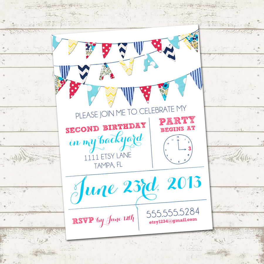 all about birthday bunting little dance invitations