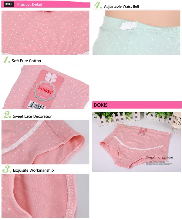 dec57a3692c ... Dokis Pregnant Women Cotton Hold Abdominal High Waist Adjustable  Underwear - Thumbnail 3 ...