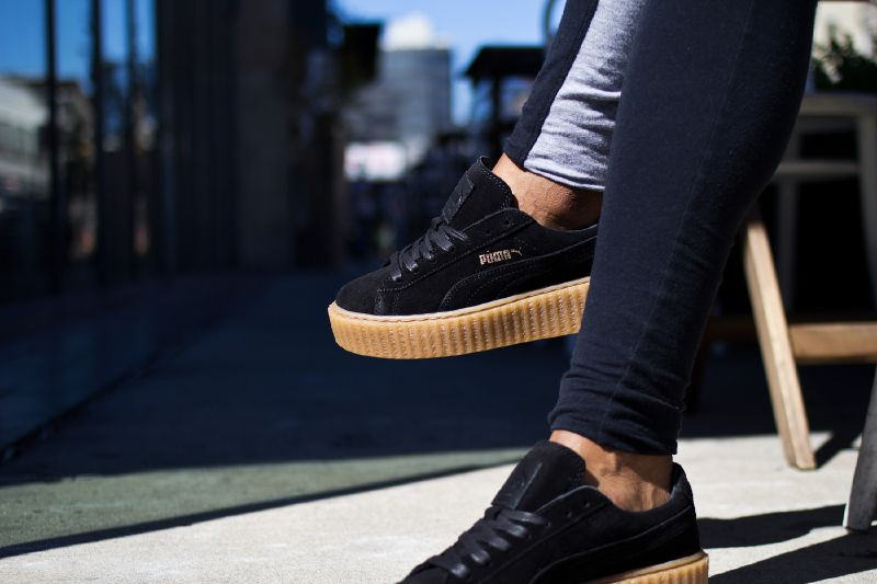 new style 21371 9ea35 Fashion Shoes by Rihanna Fenty creeper black sneakers from BELLDRESS