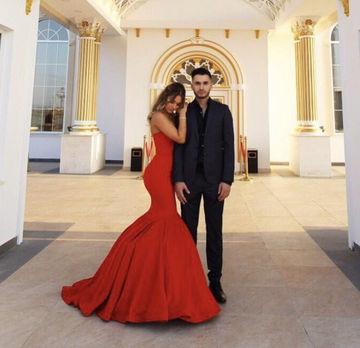 4bdffb94b10 ... LoliPromDress Red Chic Sweetheart Mermaid Satin Prom Dresses 2017 -  Thumbnail 2 ...