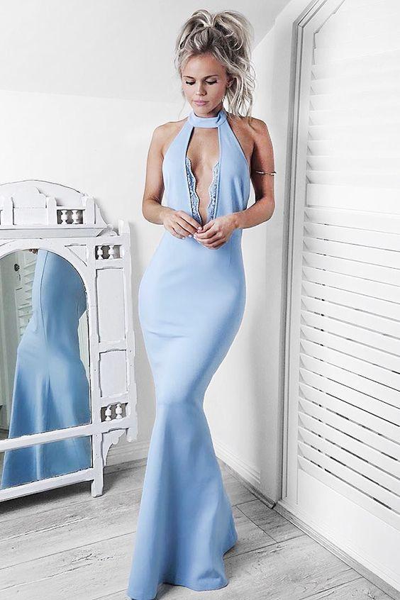 815267e0a54 mermaid light blue prom dresses