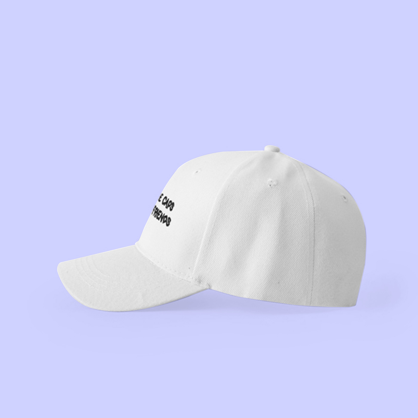 6eef7906d8f VAPORWAVE I HAVE MORE CAPS THAN REAL FRIENDS BASEBALL CAP IN WHITE -  Thumbnail 1 ...