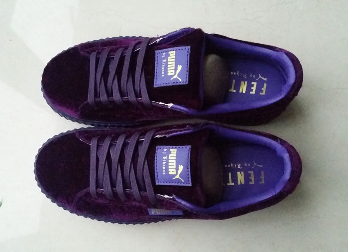 sale retailer e9f4f 70c28 Fashion Fenty by Rihanna women's/men's Velvet Creeper Casual sneaker purple  from supplier
