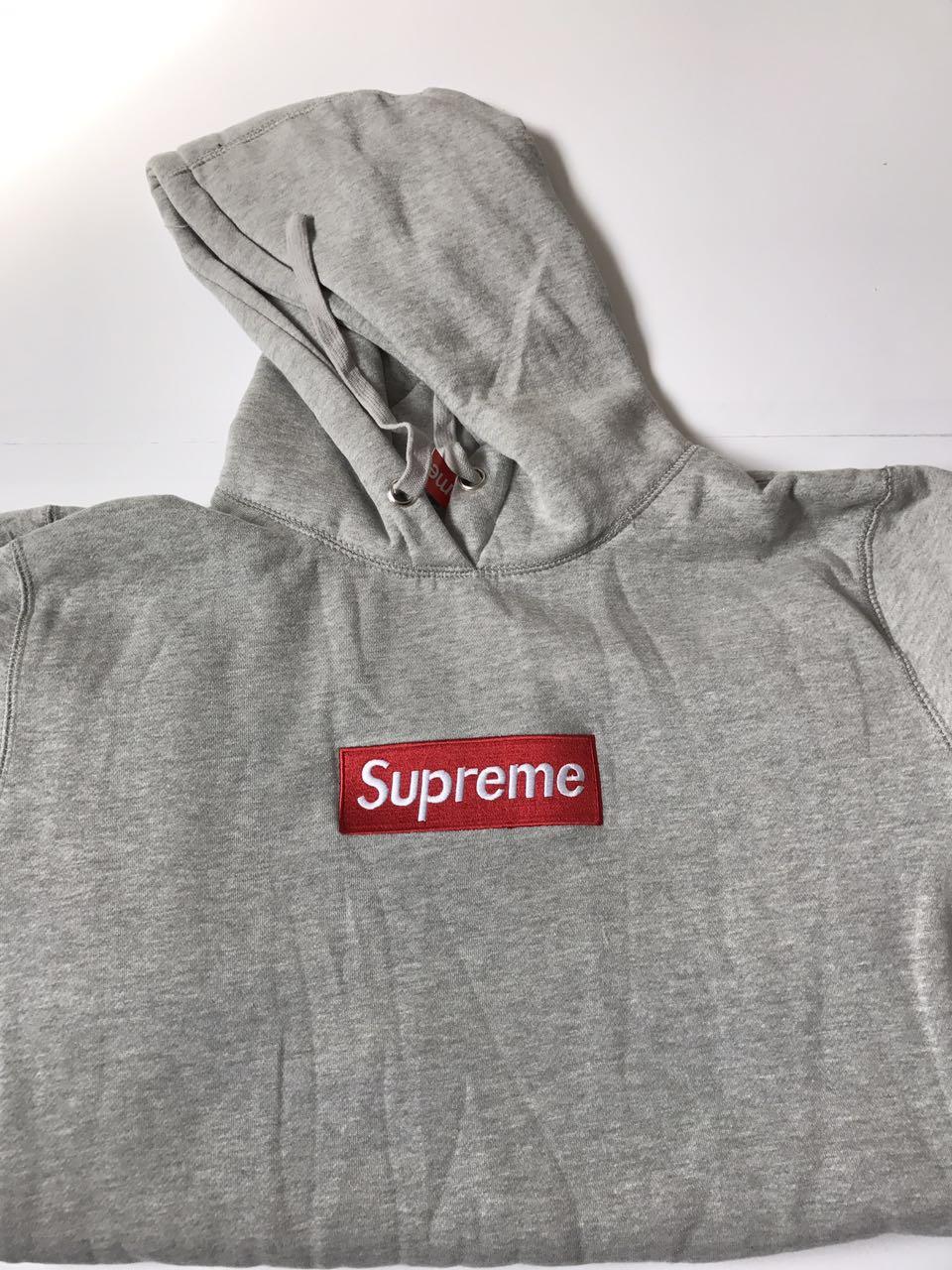 0a0ceebea6aa Supreme Box Logo Hoodie Grey UA Replica on Storenvy
