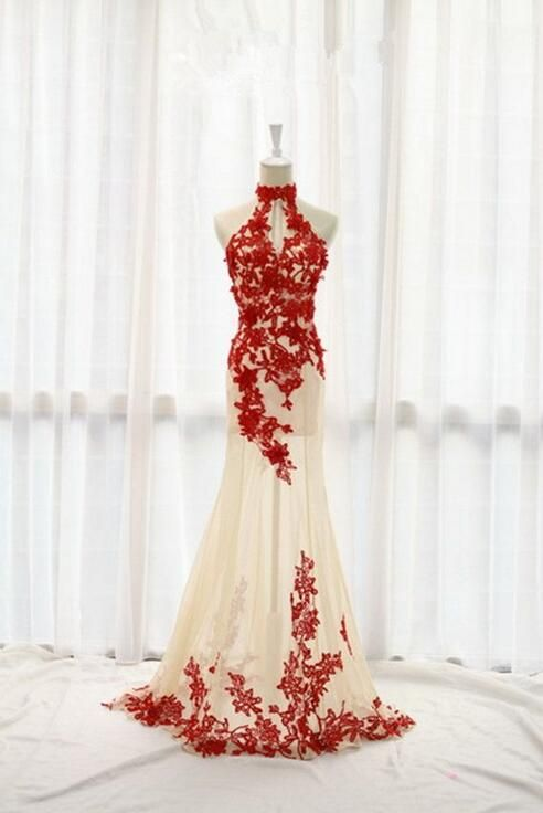 2016 Fashion Prom Dresses,Champagne Prom Dress,Tulle Formal Gown,Red ...