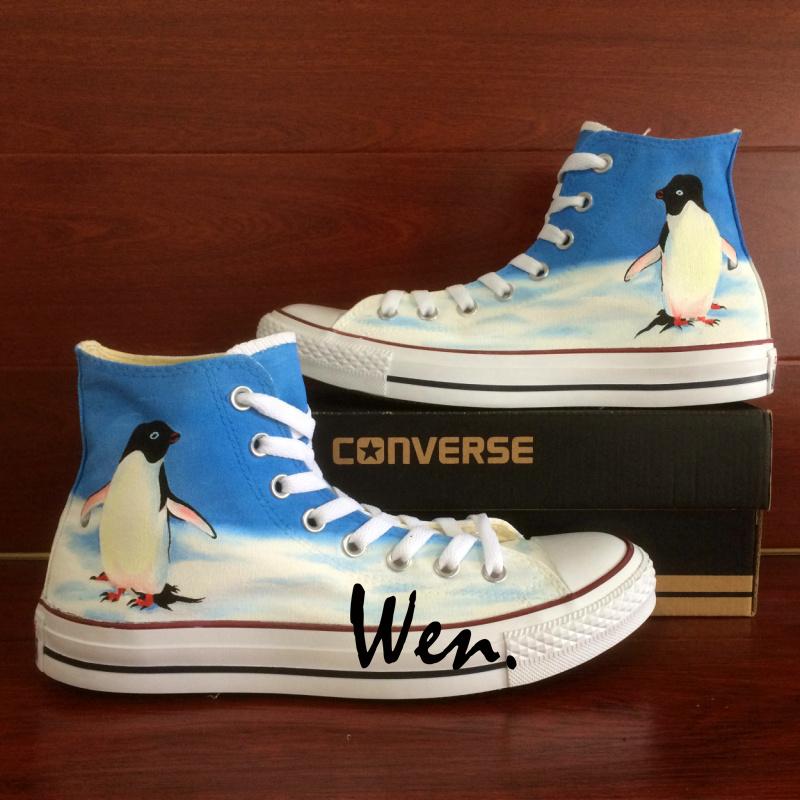 7541c906dd27 Penguin Original Design Converse All Star Shoes Custom Hand Painted ...
