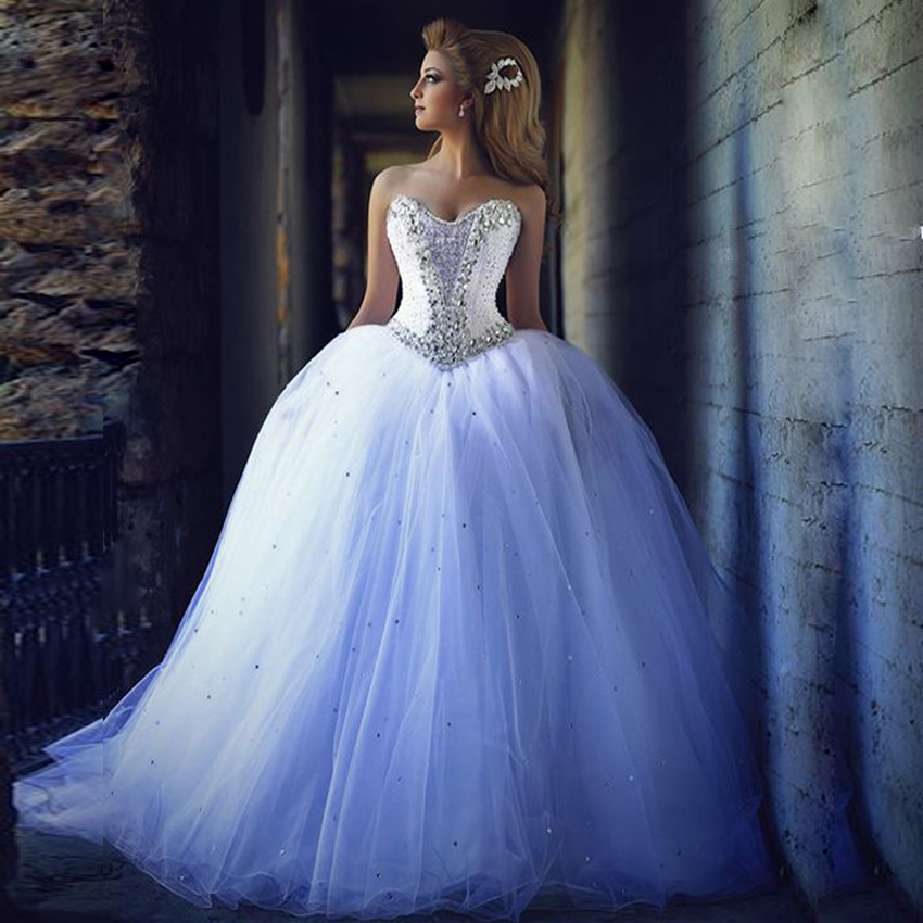 H474 Princess Ball Gown Wedding Dresses, Back Lace-up Wedding ...