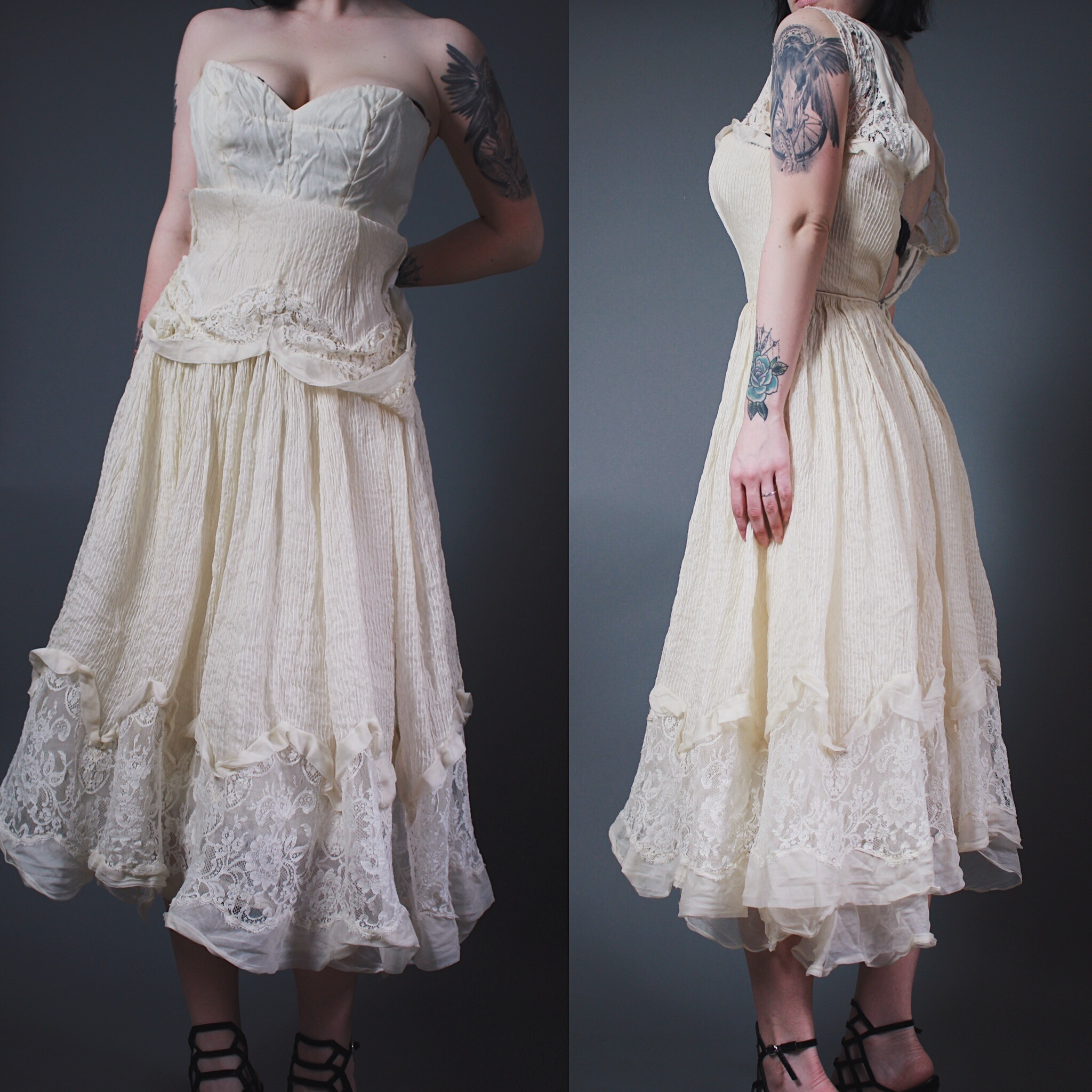 Claimed Vs420 Vintage 1950s Layered Lace Steunk Wedding Dress: Cool Steam Punk Wedding Dresses At Websimilar.org
