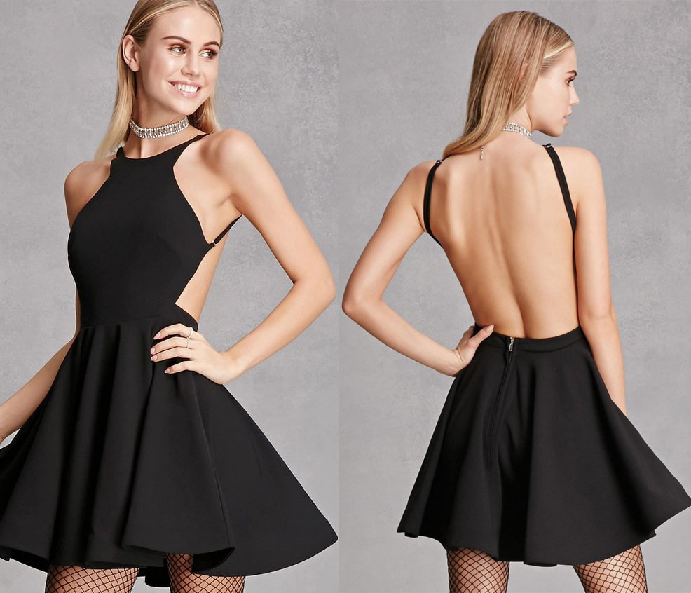 386a1a5b47 Little Black Homecoming Dress with Backless · modseleystore · Online ...