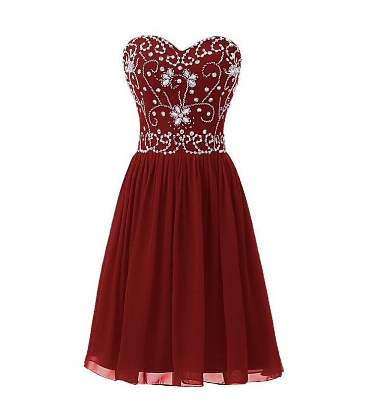 983e490f5740 Burgundy Homecoming Dress