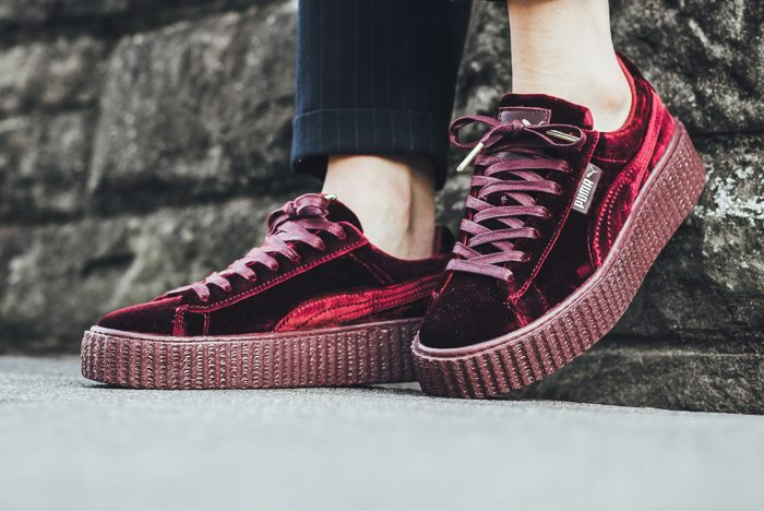 designer fashion 89ac7 718a1 FENTY Rihanna Women's Velvet Creeper Women's Creeper Velvet from BELLDRESS