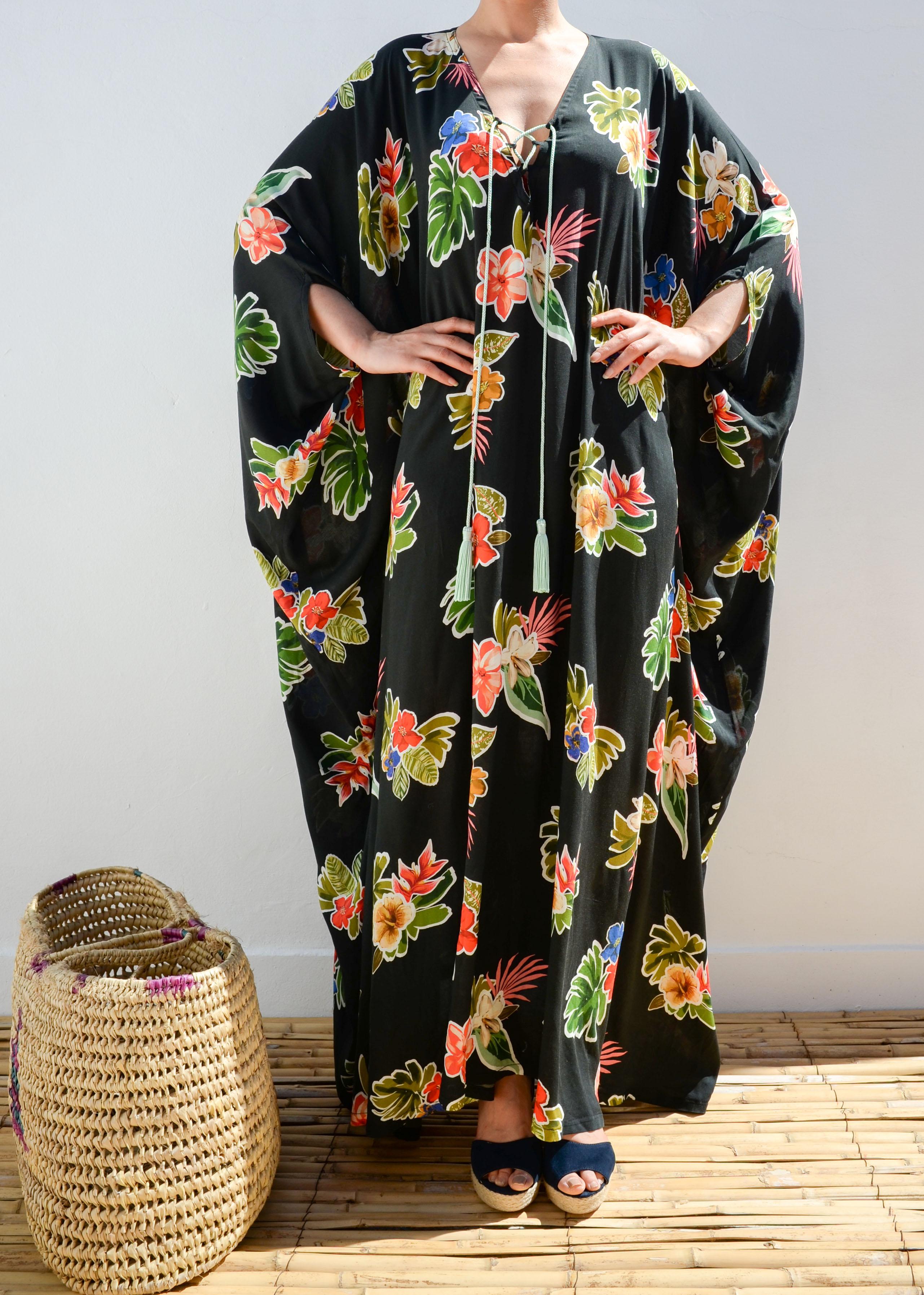 eac9405ba9ae Moroccan kaftan maxi summer dress floral dress resortwear 2017 ...