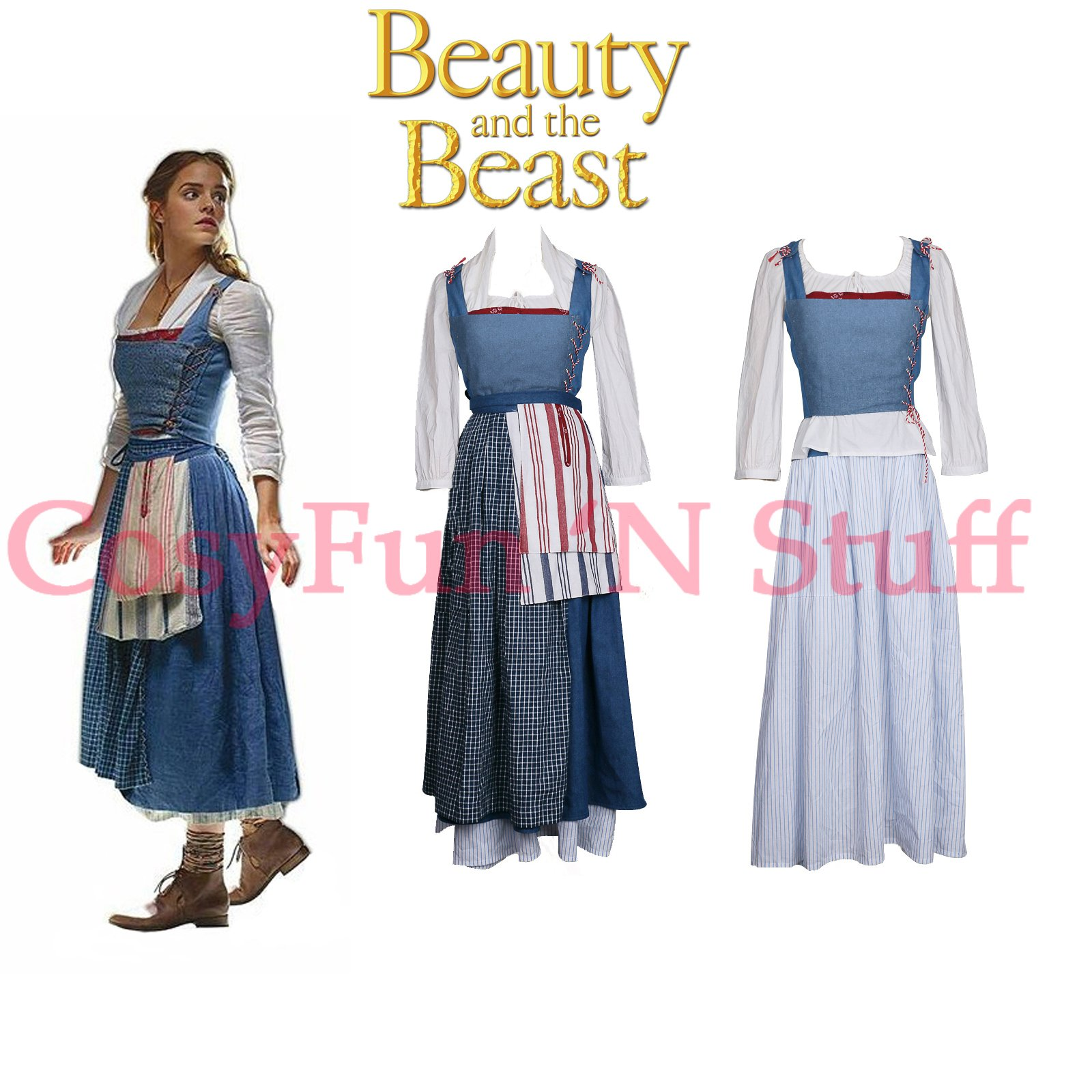 2017 beauty and the beast movie belle cosplay emma watson