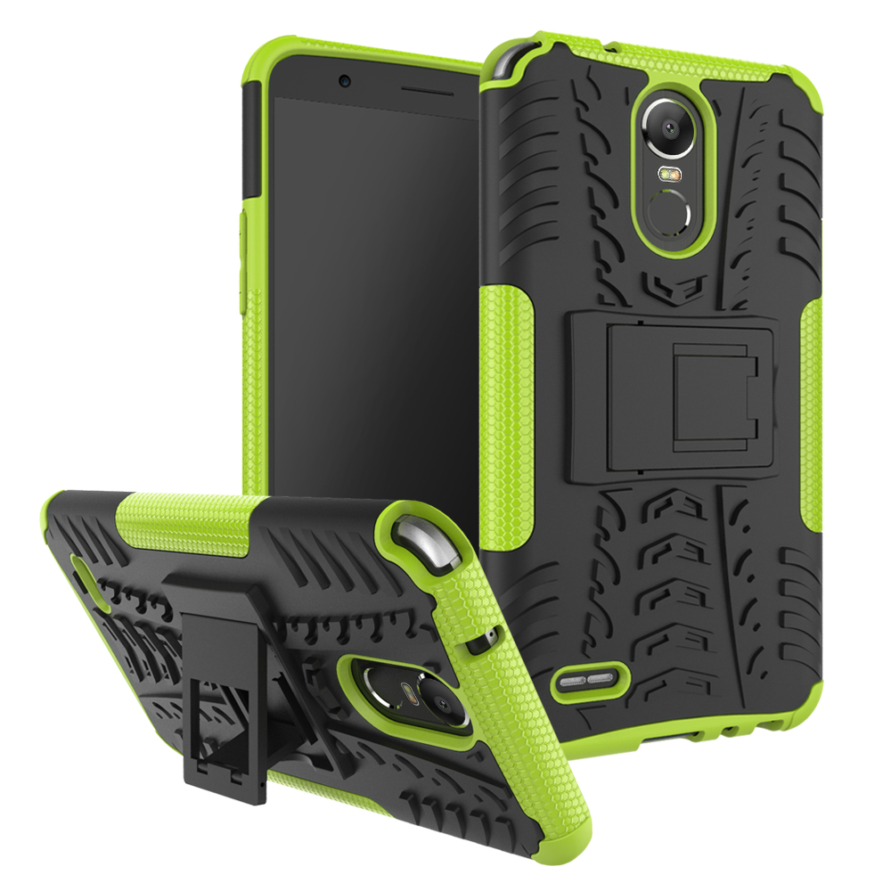 check out f3e47 e125a Rugged Armor Shockproof Hybrid Dual Layer Protective Case For LG Stylo 3 /  Stylus 3 2017 - Green