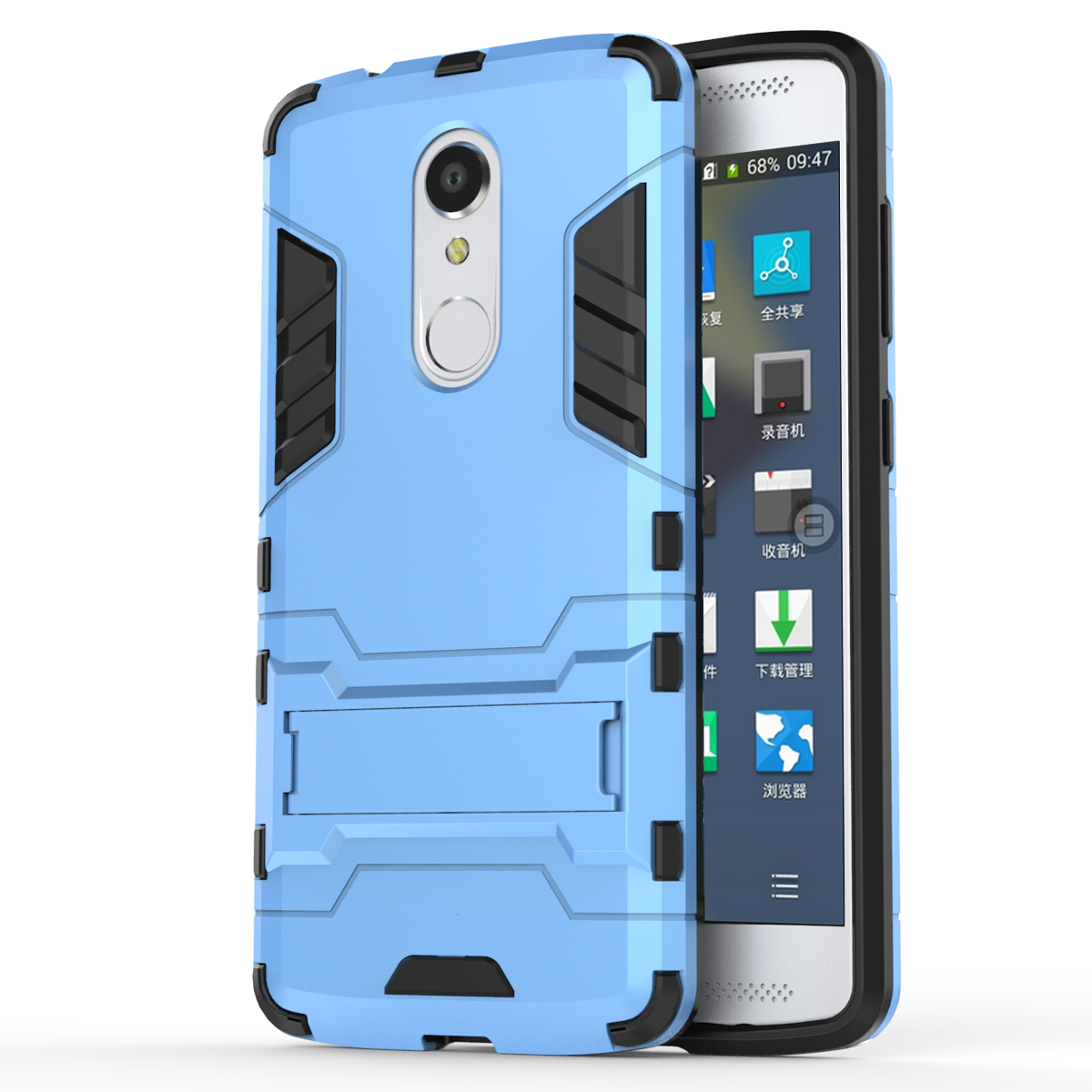 Slim Armor Kickstand Tough Protective Cover Case For ZTE AXON 7 Mini 5 2  inch - Blue from citb
