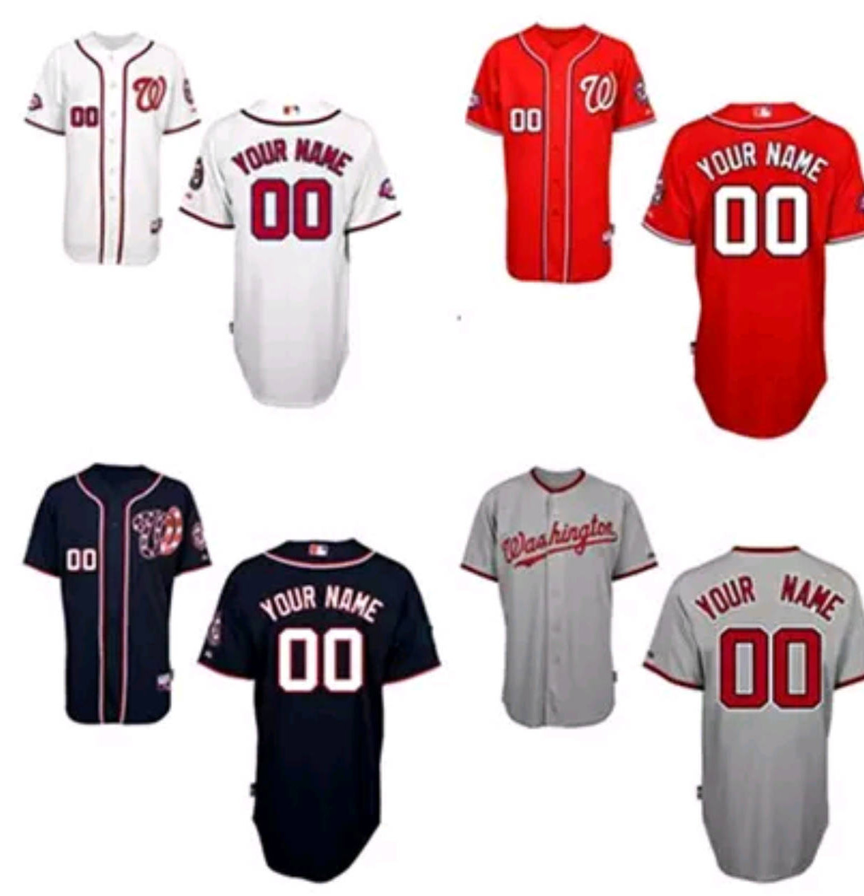 watch 994cd 8216c Washington Nationals Personalized Mens/Women/Youth Jersey S-XXXL Available  Plain or Customized Any Color/Name/Number, Including Yours