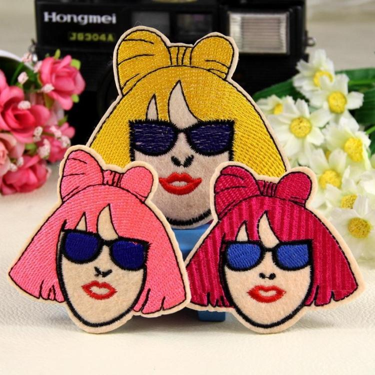9d39ed36f1600 Lady Gaga Glasses Girl Patch Stickers Stickers Clothing Decorative ...