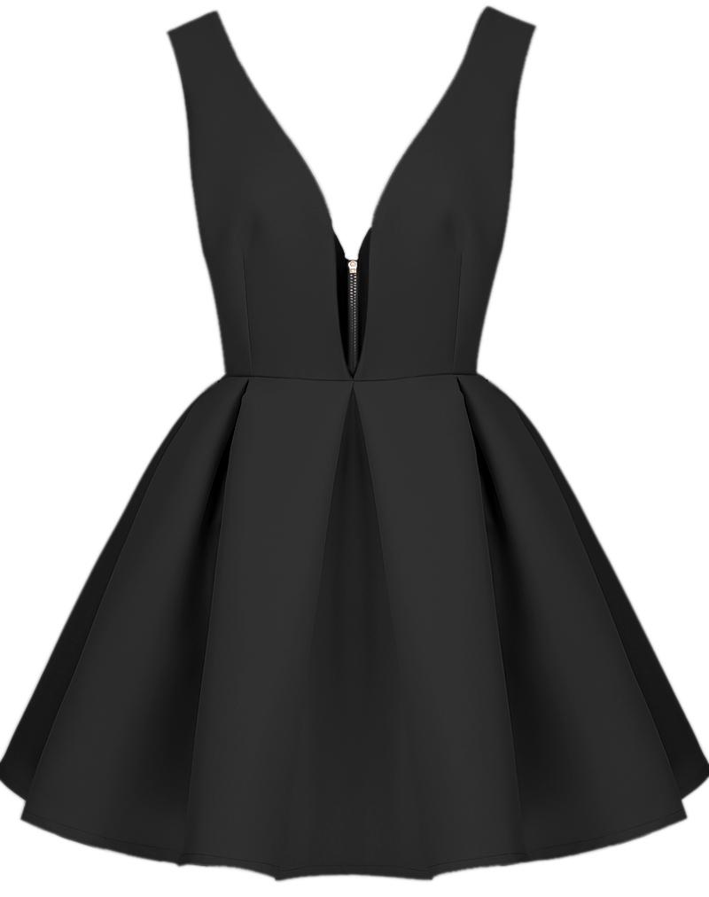7cec6d1efa Simple A-Line V-Neck Straps Black Short Homecoming Dress on Storenvy