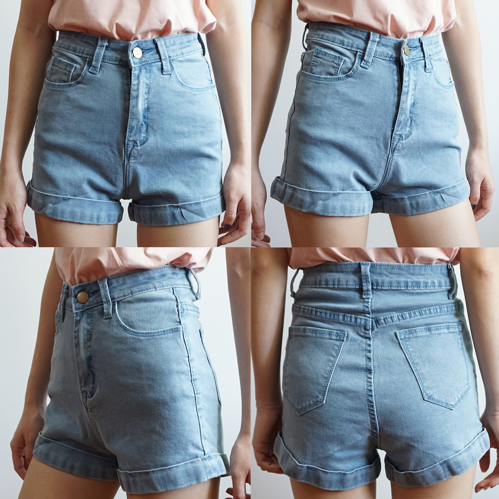 18b3fdd544 Cuffed High Waist Denim Shorts (6 Colors) · Megoosta Fashion · Free ...