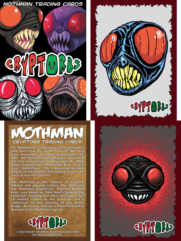 Mothman Cryptorb Trading Cards from Bailey Records
