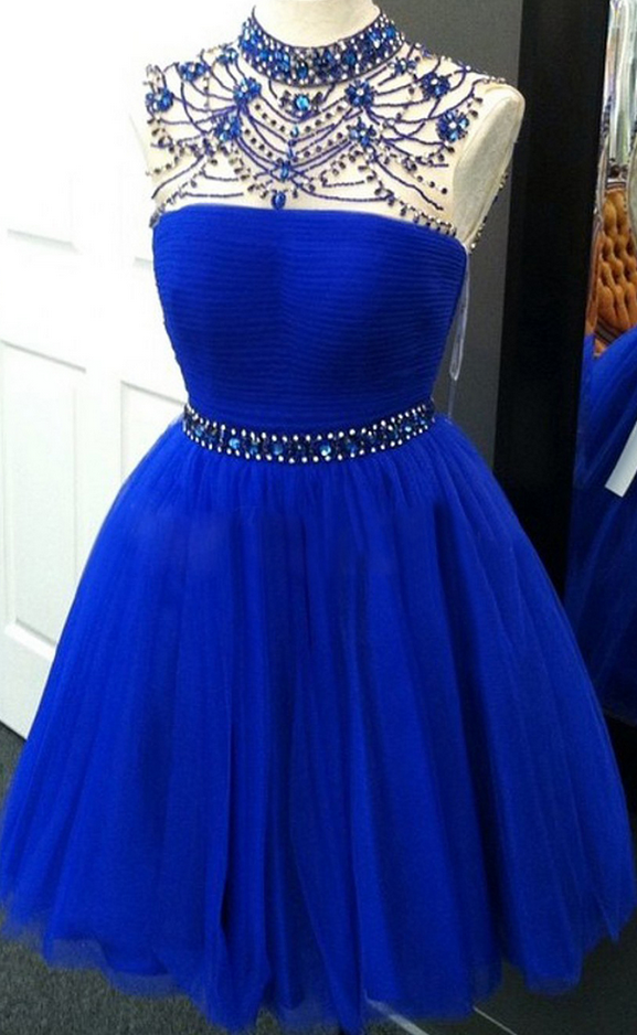 Homecoming Dresses Short Prom Dresses Royal Blue