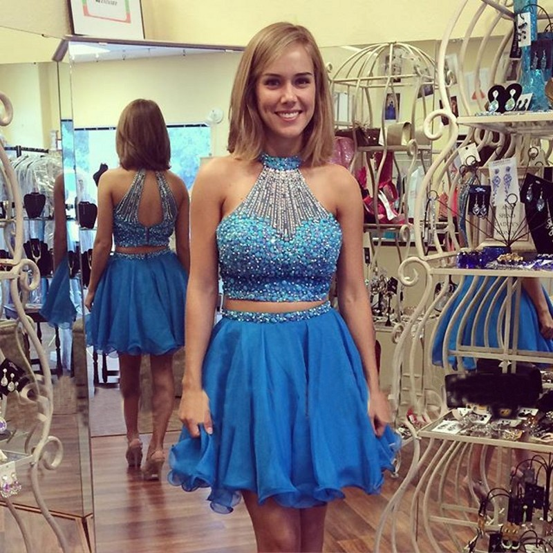 444fc088f8a Modern Two Piece Homecoming Dresses