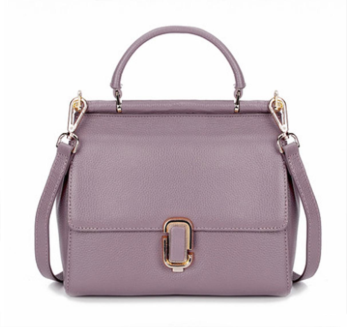 9ab111420bc0 Retro Style Lavender Leather Tote. Genuine Leather Light Purple ...
