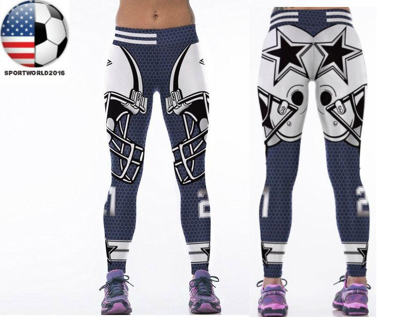 b9475761 Women Dallas Cowboys Leggings Fitness Sports Gym