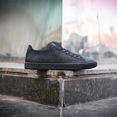 76e8f12c6c462e Fashion puma x stampd clyde runner all black casual shoes