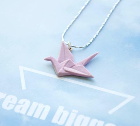 2616ce85c960b Origami Crane Necklace