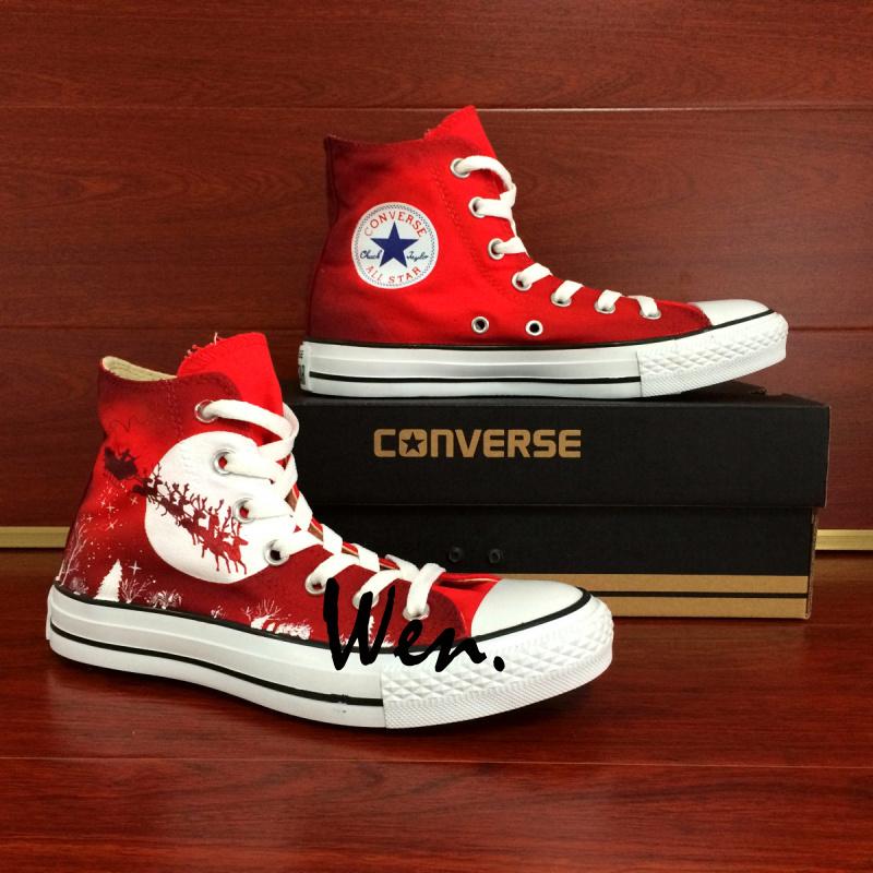 custom red converse