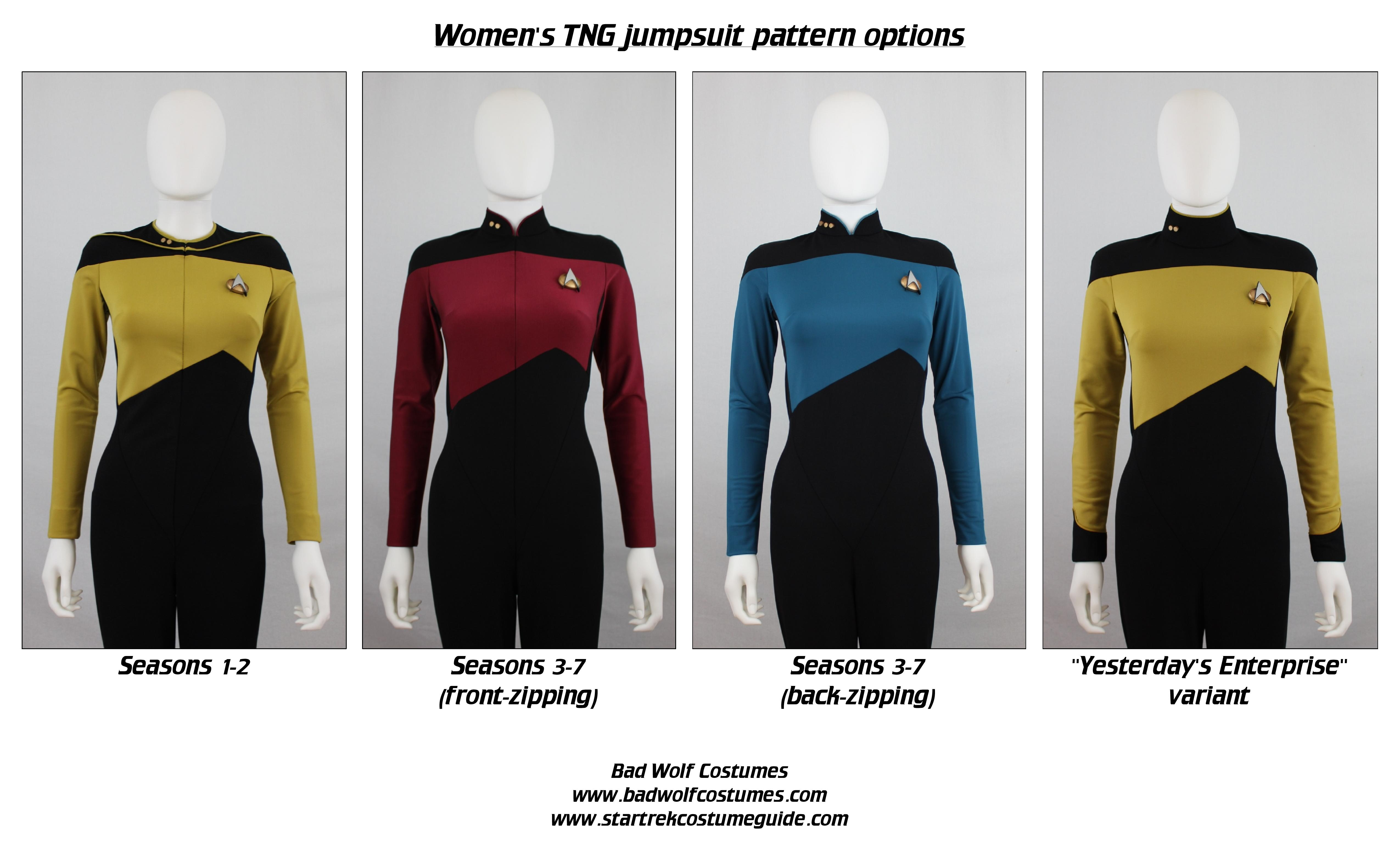 Star Trek Sewing Pattern - TNG Jumpsuit - The Next Generation ...