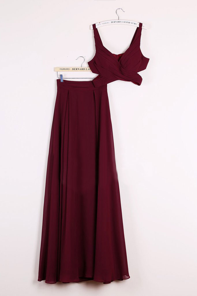 86f246b5d2992 Sexy Two Piece Prom Dresses, 2 Piece Homecoming Dresses, Burgundy  Homecoming Gowns